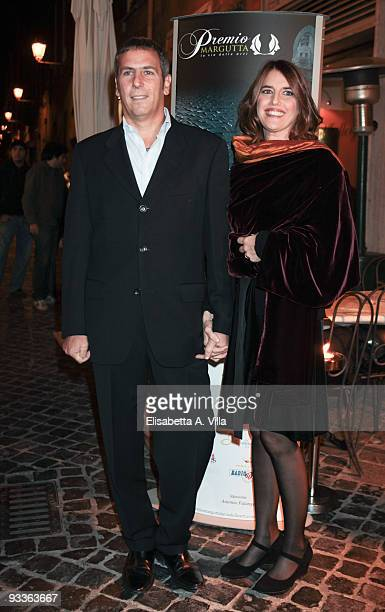 Sveva Sagramola and husband Diego Dolce attend '2009 Margutta Awards' at Margutta RistorArte on November 24 2009 in Rome Italy