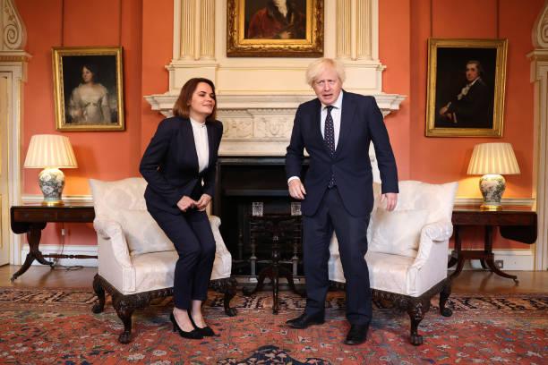 GBR: U.K. PM Johnson Meets Belarusian Opposition Leader Sviatlana Tsikhanouskaya
