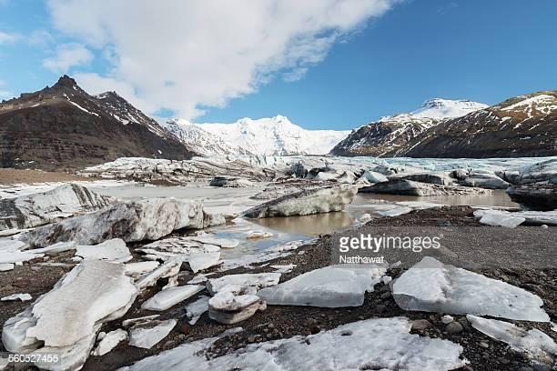 svinafellsjoekull glacier iceland - austurland stock pictures, royalty-free photos & images