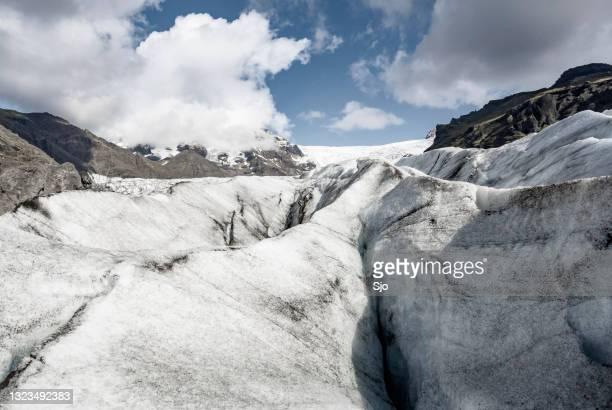 """de gletsjer van svinafellsjokull in nationaal park skaftafell, het panorama van ijsland - """"sjoerd van der wal"""" or """"sjo""""nature stockfoto's en -beelden"""