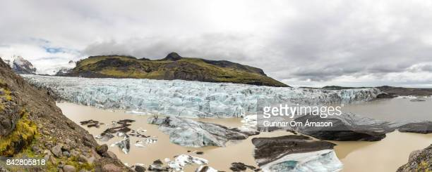 svinafellsjokull iceland - gunnar örn árnason stock pictures, royalty-free photos & images