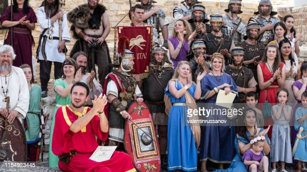 svishtov, bulgaria - show of ancient romans - parade stock pictures, royalty-free photos & images