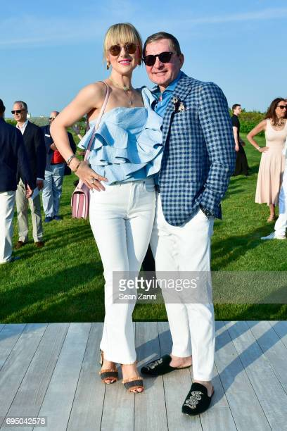 Svitlana Flom and Gary Flom attend The 17th Annual Midsummer Night Drinks Benefiting God's Love We Deliver at Private Residence on June 10 2017 in...
