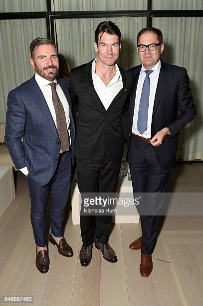 SVP/Publishing Jack Essig actor Jerry O' Connell and President of Hearst Magazines David Carey attend the Esquire/CFDA NYFWMen's event at Spring...