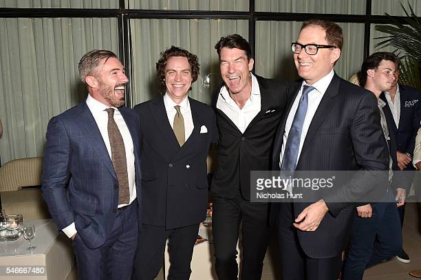 SVP/Publishing Jack Essig Esquire Editor in Chief Jay Fielden actor Jerry O' Connell and President of Hearst Magazines David Carey attend the...