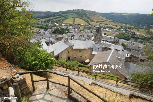 sévérac-le-château village in the south of france - aveyron stock pictures, royalty-free photos & images