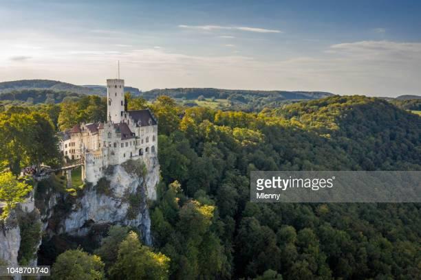 Swabian Jura Aerial View Fairy Tale Castle Lichtenstein South Germany