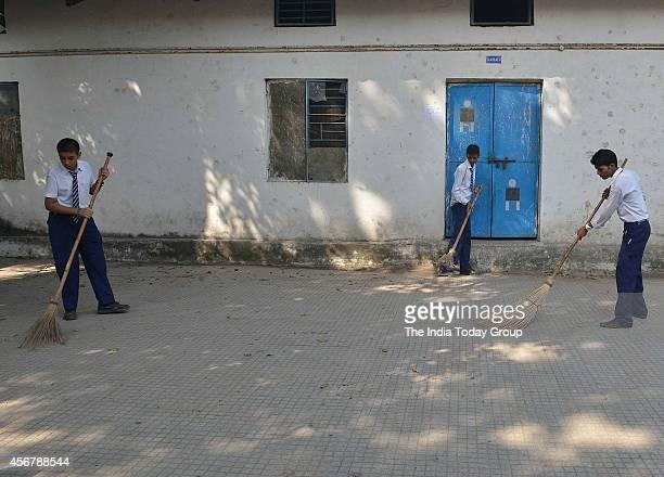 Swachh Bharat Abhiyan at Govt Boys Senior school Jungpur