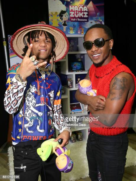 Swae Lee and Slim Jimmy of Rae Sremmurd at Backstage Creations Celebrity Retreat at Teen Choice 2017 Day 2 at Galen Center on August 13 2017 in Los...