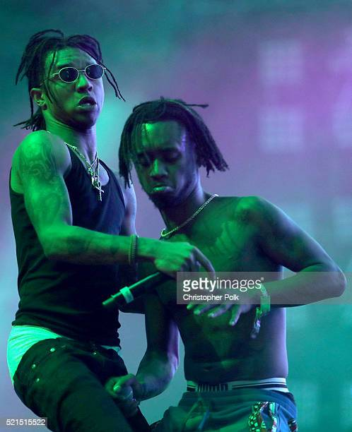 Swae Lee and Slim Jimmy of Rae Sremmurd perform onstage on day 1 of the 2016 Coachella Valley Music Arts Festival Weekend 1 at the Empire Polo Club...