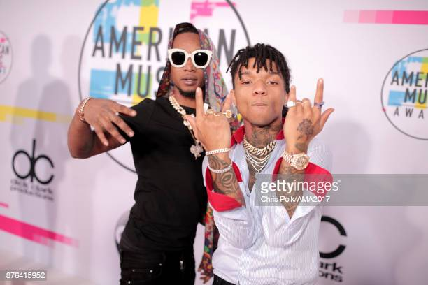 Swae Lee and Slim Jxmmi of Rae Sremmurd attend the 2017 American Music Awards at Microsoft Theater on November 19 2017 in Los Angeles California