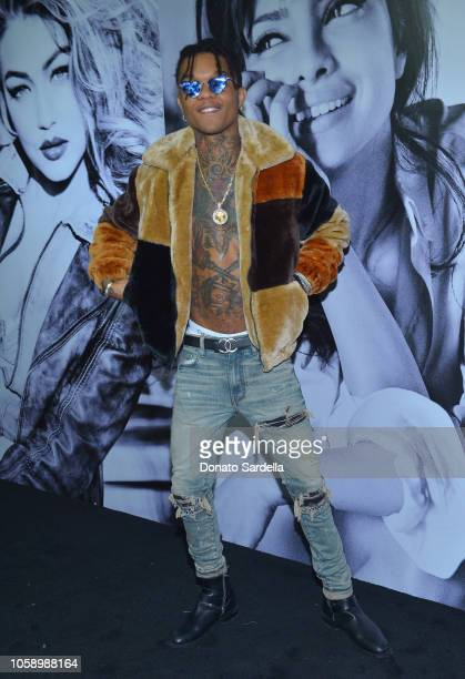 Swae Lee attends the GUESS Holiday 2018 Event on November 7 2018 in West Hollywood California