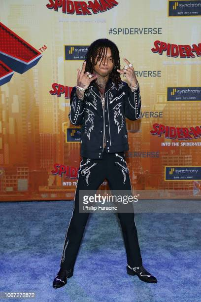 Swae Lee attends the world premiere of Sony Pictures Animation and Marvel's SpiderMan Into The SpiderVerse at Regency Village Theatre on December 1...
