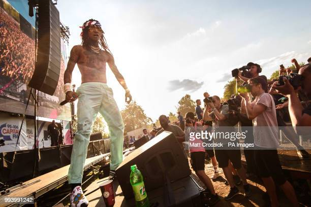 Swae Lee of Rae Sremmurd performing on the third day of the Wireless Festival in Finsbury Park north London
