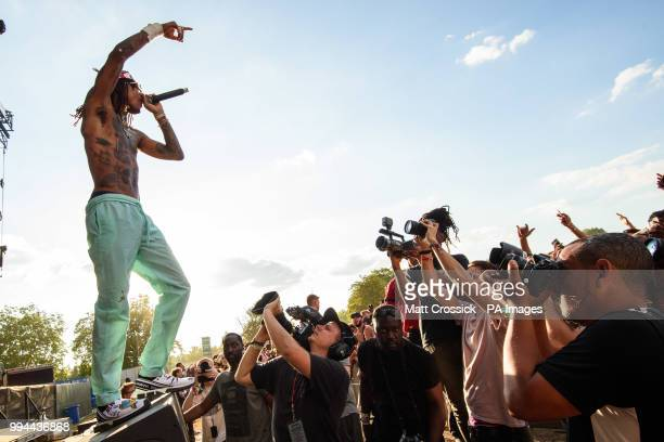 Swae Lee of Rae Sremmurd performing on the third day of the Wireless Festival in Finsbury Park north London PRESS ASSOCIATION Photo Picture date...