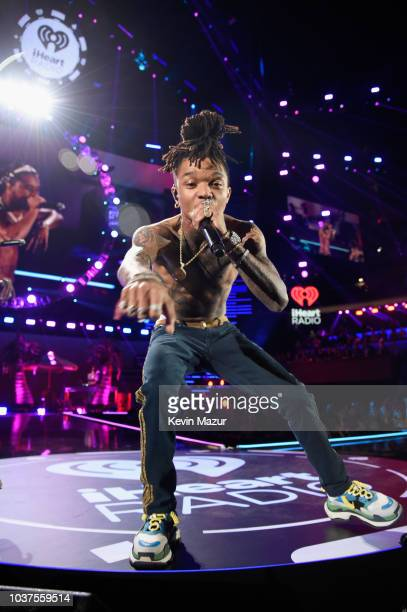Swae Lee of Rae Sremmurd performs onstage during the 2018 iHeartRadio Music Festival at TMobile Arena on September 21 2018 in Las Vegas Nevada