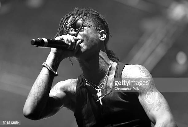 Swae Lee of Rae Sremmurd performs onstage on day 1 of the 2016 Coachella Valley Music Arts Festival Weekend 1 at the Empire Polo Club on April 15...