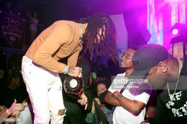 Swae Lee Slim Jxmmi and DJ Spade perform onstage during TAO Group's Big Game Takeover presented by Tongue Groove with Remy Martin on February 2 2019...