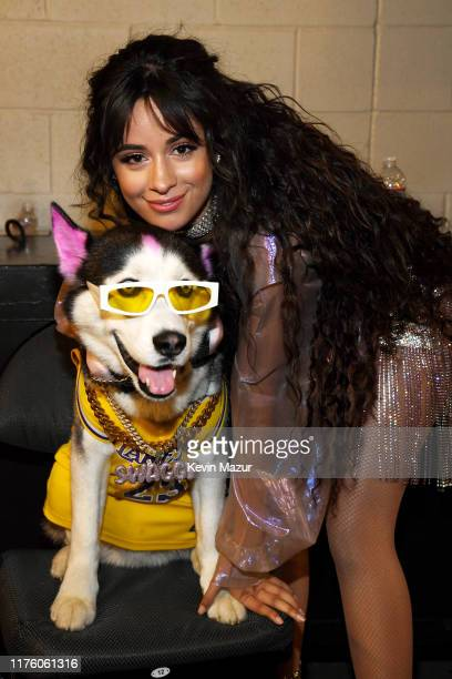 Swaggy Wolfdog and Camila Cabello attend the 2019 iHeartRadio Music Festival at TMobile Arena on September 20 2019 in Las Vegas Nevada