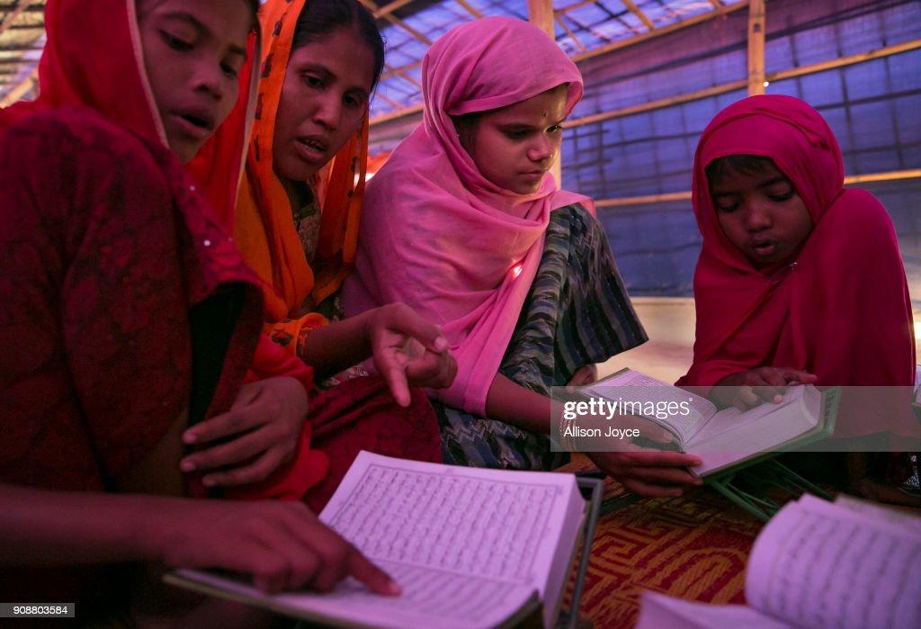 """Rohingya Women Find Safe Haven In """"Widow's Village"""" At Cox's Bazar : News Photo"""