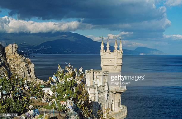 swallow's nest castle crimea - crimea stock pictures, royalty-free photos & images