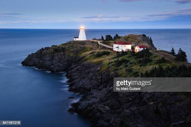 Swallowtail Lighthouse at dusk, Grand Manan, New Brunswick, Canada