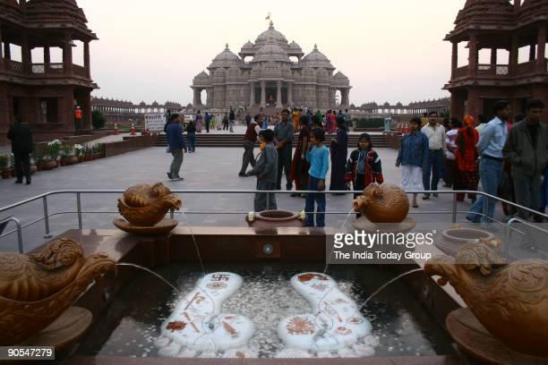 Swaminarayan Akshardham temple in Delhi on November 24 2005