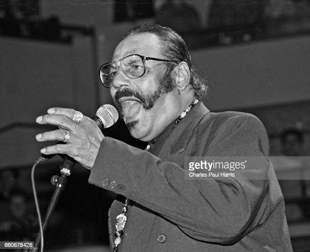 Swamp pop singer Huey 'Cookie' Thierry, leader of Cookie & The Cupcakes, performs at the Blues Estafette, NOVEMBER 18, 1995 at Utrecht, Netherlands.