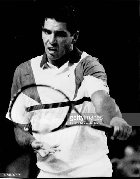 Swan International tennis at the Sydney Sports and Entertainment Centre Ecuador's Andrez Gomez October 14 1988