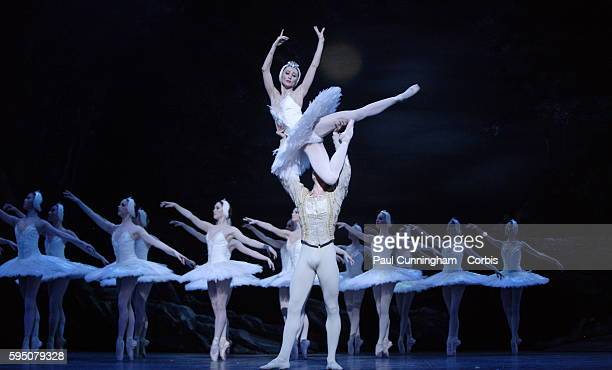 Swan Lake the English National Ballet's production of the famous ballet by Pyotr Tchaikovsky Lead Dancers Daria Klimentová 'Odette' and Vadim...