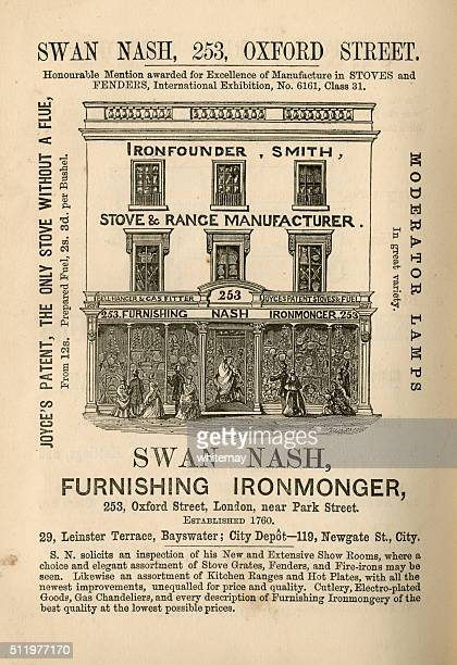 Swan Nash, Furnishing Ironmonger - advertisement, 1865