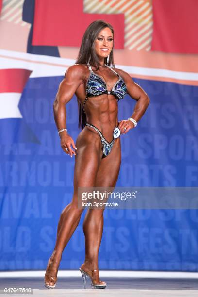 Swann De La Rosa competes in Figure International as part of the Arnold Sports Festival on March 3 at the Greater Columbus Convention Center in...