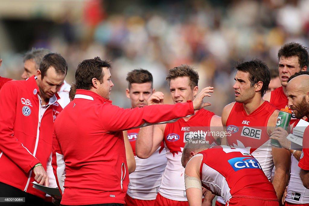 AFL Rd 17 -  West Coast v Sydney : News Photo