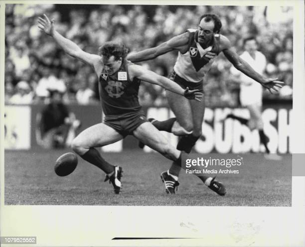 Swans vs Fitzroy at SCGMark Browning tries to spoil a Fitzroy player during a match at the SCG last year June 01 1986