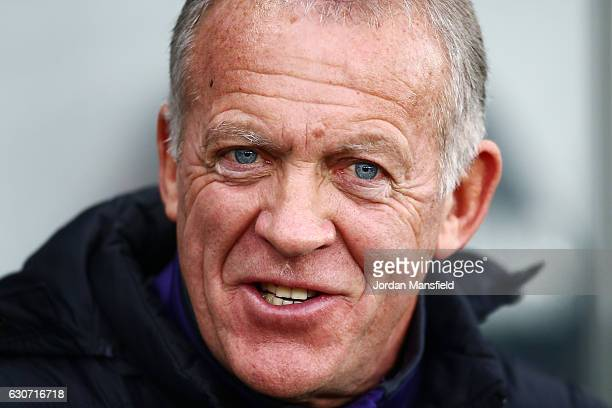 Swansea City caretaker manager Alan Curtis is seen prior to the Premier League match between Swansea City and AFC Bournemouth at Liberty Stadium on...