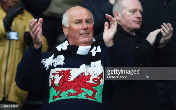 Swansea City fans shows his support prior to the Premier League match between Swansea City and Leicester City at Liberty Stadium on February 12 2017...