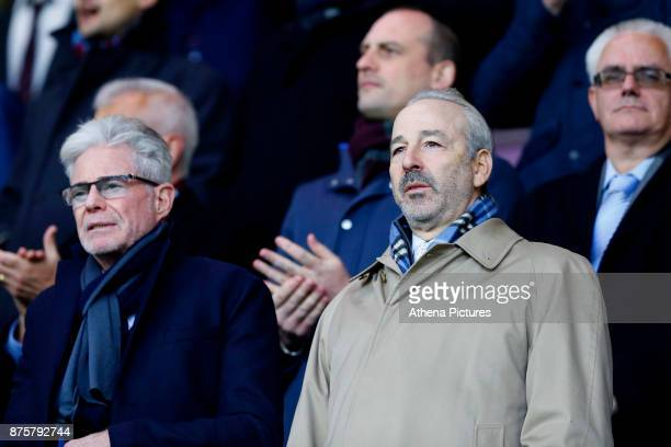 Swansea City majority shareholder Steve Kaplan looks on prior to the Premier League match between Burnley and Swansea City at Turf Moor on November...