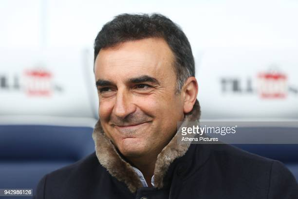 Swansea City manager Carlos Carvalhal prior to kick off of the Premier League match between Swansea City and West Bromwich Albion at the Hawthorns...
