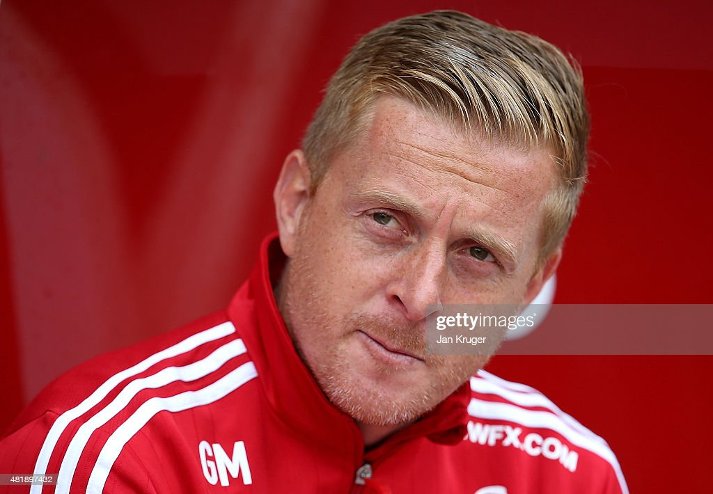 Swansea City manager Gary Monk looks on during the pre season friendly match between Nottingham Forest and Swansea City at City Ground on July 25, 2015 in Nottingham, England.