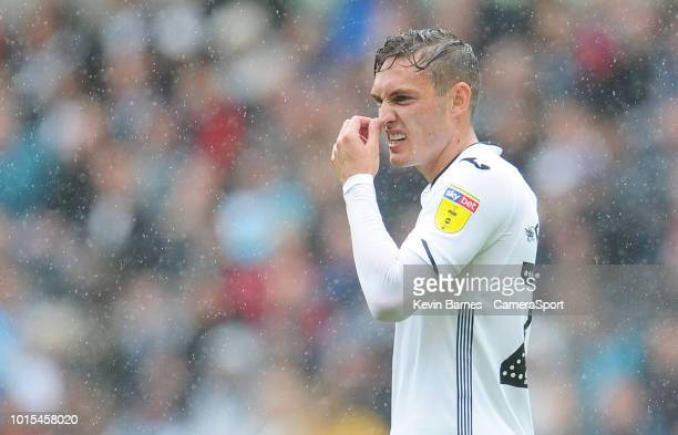 Swansea City's Connor Roberts during the Sky Bet Championship match between Swansea City and Preston North End at Liberty Stadium on August 11 2018...