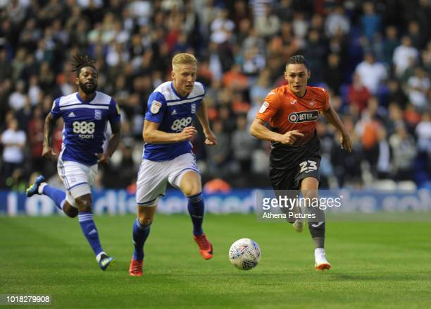 Swansea City's Connor Roberts in action during the Sky Bet Championship match between Birmingham City and Swansea City at St Andrew's Trillion Trophy...