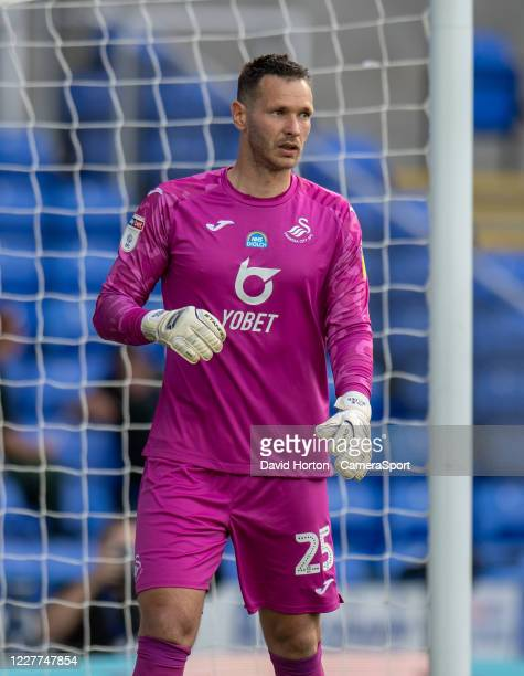 Swansea City's Erwin Mulde during the Sky Bet Championship match between Reading and Swansea City at Madejski Stadium on July 22, 2020 in Reading,...