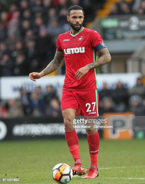 NOTTINGHAM ENGLAND JANUARY Swansea City's Kyle Bartley during the The Emirates FA Cup Fourth Round match between Notts County and Swansea City at...