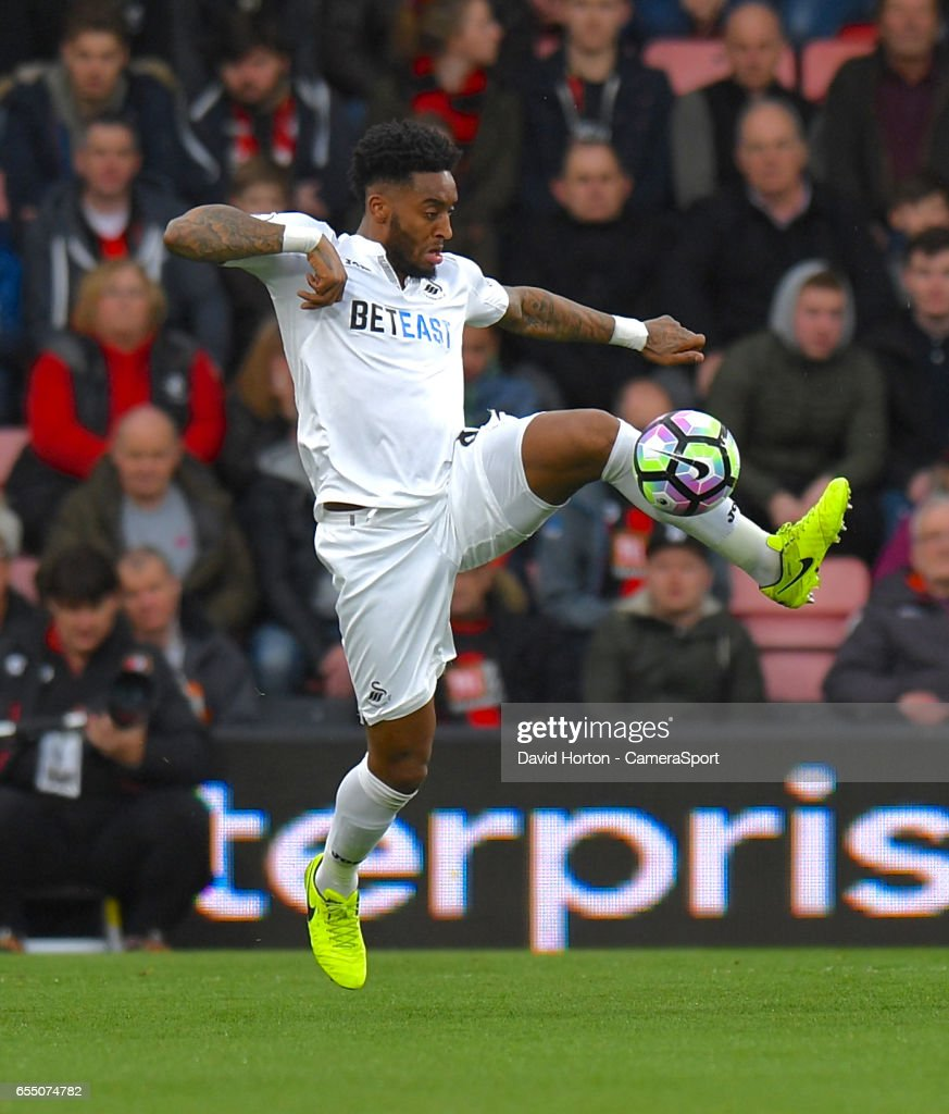 Swansea City's Leroy Fer in action during todays match during the Premier League match between AFC Bournemouth and Swansea City at Vitality Stadium on March 18, 2017 in Bournemouth, England.