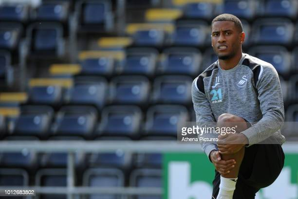 Swansea City's Luciano Narsingh during the Swansea City Training at The Liberty Stadium on August 7 2018 in Swansea Wales
