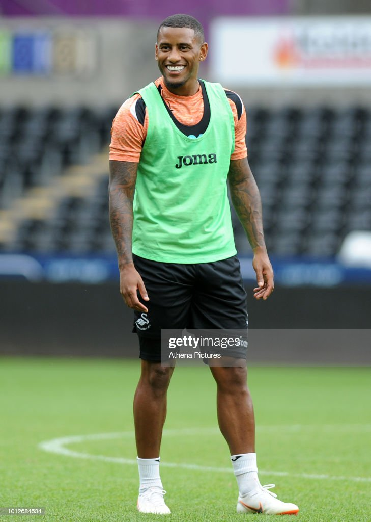 Swansea City's Luciano Narsingh during the Swansea City Training at The Liberty Stadium on August 7, 2018 in Swansea, Wales.