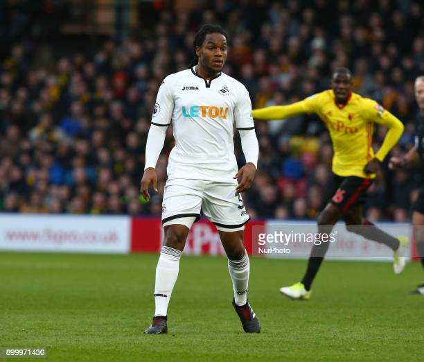 Swansea City's Renato Sanches during Premier League match between Watford and Swansea City at Vicarage Road Stadium Watford England 30 Dec 2017