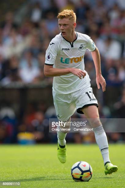Swansea City's Sam Clucas in action during the Premier League match between Crystal Palace and Swansea City at Selhurst Park on August 26 2017 in...