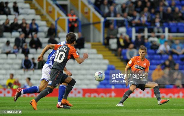 Swansea City's Tom Carroll during the Sky Bet Championship match between Birmingham City and Swansea City at St Andrew's Trillion Trophy Stadium on...