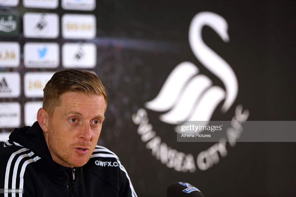 Swansea City Press Conference : News Photo